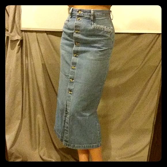 Eddie Bauer Dresses & Skirts - Vintage Eddie Bauer 100% cotton pencil skirt sz p4